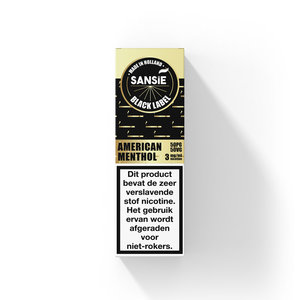 American Menthol - Sansie Black Label - 10ml